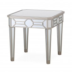 Ashley Side/Lamp Table Mirrored