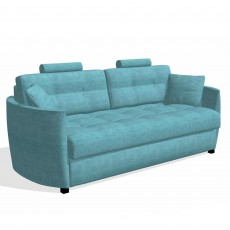 Fama Bolero 4 Seater Curved Sofa Bed With 2 Headrests Fabric