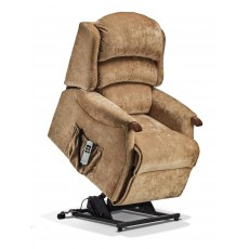 Sherborne Malham Small Electric Lift & Rise Recliner With Lumbar Support Fabric Aquaclean