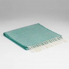 McNutt Supersoft Lambswool Oval Spearmint Scarf 29cm x 224cm Blue & White