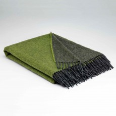 McNutt Collection Meadow Green Reversible Throw 145cm x 200cm Green & Dark Grey