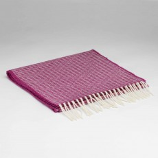 McNutt Supersoft Lambswool Oval Beetroot Scarf 29cm x 224cm Pink & White