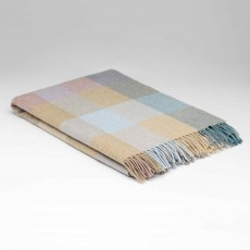 McNutt Supersoft Lambswool Coastal Check Throw 145cm x 200cm Multi Coloured