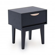 Drummond 1 Drawer Bedside Locker Painted Midnight Blue