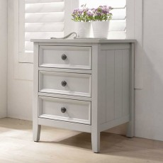 Carrie 3 Drawer Bedside Locker Painted Clay
