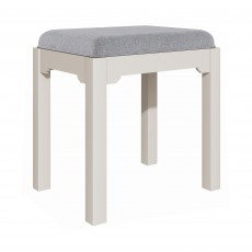Epping Bedroom Stool Grey With Fabric Seat Pad Grey