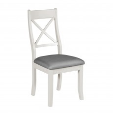 Epping Bedroom Chair Grey With Fabric Seat Pad Grey