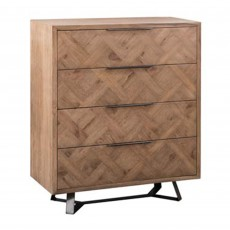 Dale 4 Drawer Chest Of Drawers Grey Oak