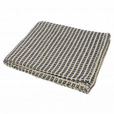Riva Home Keyhole Throw 150cm x 200cm Navy & White