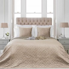 Paoletti Moonlight Throw/Bedspread 260cm x 260cm Champagne