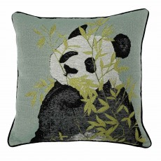 Paoletti Pandas Cushion 50cm x 50cm Green
