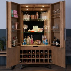 Dale 2 Door Drinks Cabinet Grey Oak