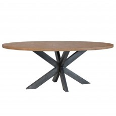 Dale 4-6 Person Oval Dining Table Grey Oak