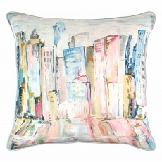 Scatter Box Latitude Cushion 45cm x 45cm Pink/Blue