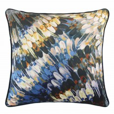 Scatter Box Kingfisher Cushion 43cm x 43cm Navy/Ochre