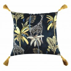 Scatter Box Simone Cushion 45cm x 45cm Navy/Gold