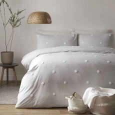 Appletree Dot Garden Duvet Cover Set Silver