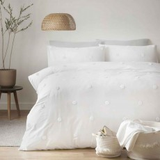 Appletree Dot Garden Duvet Cover Set White