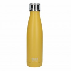 Built 500ml Double Walled Stainless Steel Water Bottle Mustard