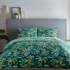 Appletree Amara Reversible Duvet Cover Set Teal