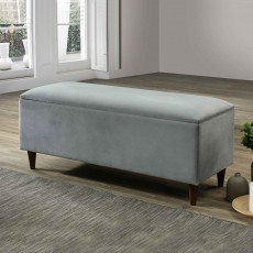 Emma Storage Ottoman Fabric Grey