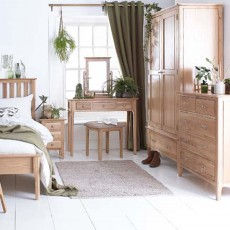 Alford 2 Door Wardrobe With 1 Drawer Light Oak