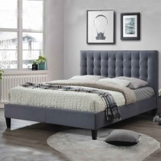 Becky Bedstead Fabric Grey