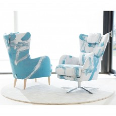 Fama Kylian Armchair Wooden Legs Fabric Series 6