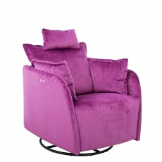 Fama Nadia You & Me Electric Reclining Rocking Armchair Fabric Series 6