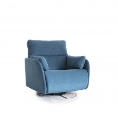 Fama Adan Large Electric Reclining Swivel & Rocking Armchair Circular Base Fabric Series 6