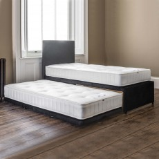 Granville Single (90cm) Guest Bed With Open Coil Mattress Fabric