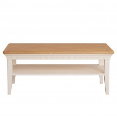 Bellingham Coffee Table Painted Off-White With Oak Top
