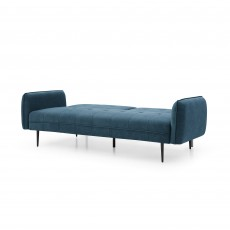 Clapton 3 Seater Sofa Bed Fabric Blue