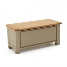 Regan Blanket Box Washed Oak Taupe With Oak Top