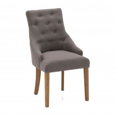 Gradara Dining Chair Linen Fabric Grey