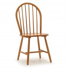 Beleek Dining Chair Honey With Solid Honey Seat