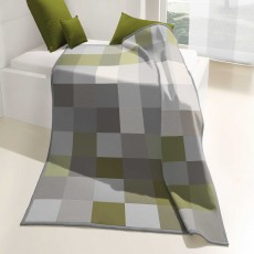 Biederlack Check Throw 150cm x 200cm Olive