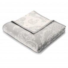 Biederlack Paisley Reversible Throw 150cm x 200cm Silver