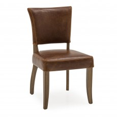 Duke Dining Chair Leather Tan