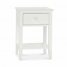 Julie 1 Drawer Bedside Locker Painted Off-White