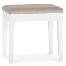 Julie Bedroom Stool With Fabric Seat Pad White
