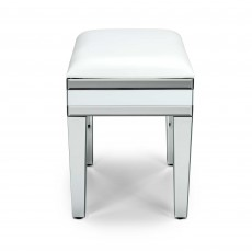 Liberty Bedroom Stool White & Silver