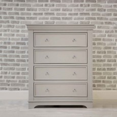 Clarence 4 Drawer Chest of Drawers Grey