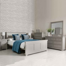 Clarence 2 Drawer Bedside Locker Grey