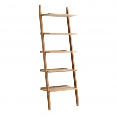 Riva Ladder Bookcase Oak