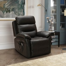Errigal Lift & Rise Recliner Faux Leather Brown