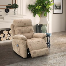 Errigal Lift & Rise Electric Recliner Fabric Beige