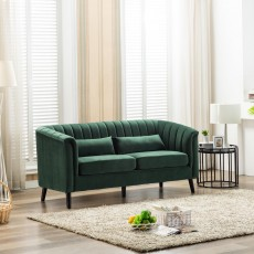 Maura 3 Seater Sofa Fabric Green