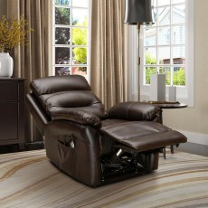 Errigal Lift & Rise Recliner Italian Leather Brown