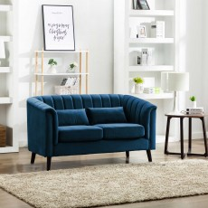 Maura 2 Seater Sofa Midnight Blue